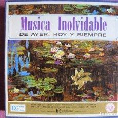 Discos de vinilo: LP - MUSICA INOLVIDABLE DE AYER, HOY Y SIEMPRE-VARIOS (CAJA CON 12 LP'S Y LIBRETO). Lote 121052131