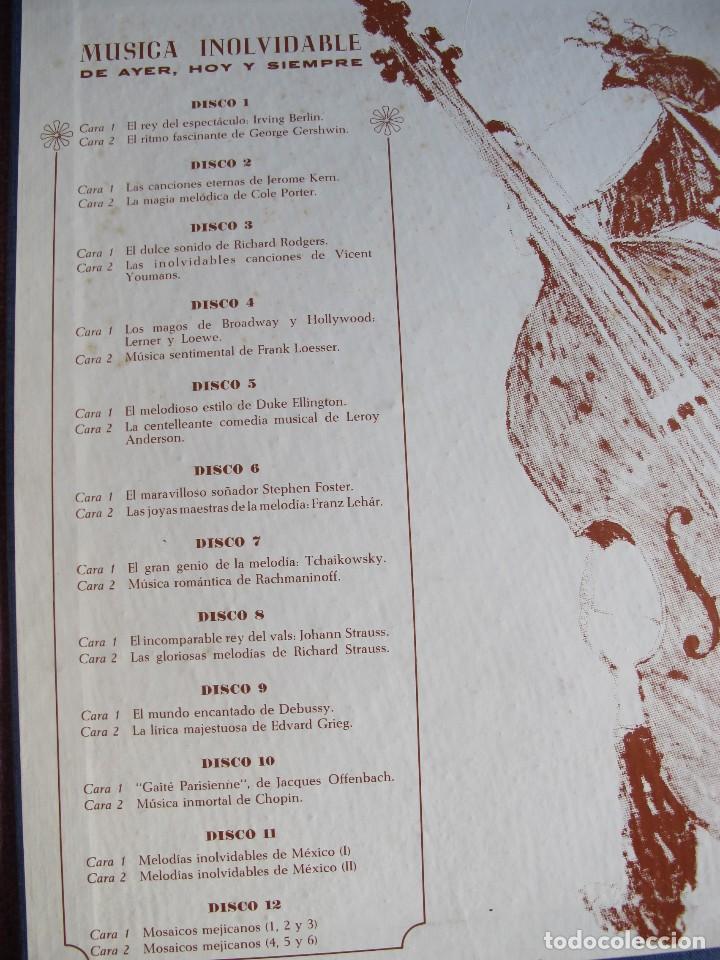 Discos de vinilo: LP - MUSICA INOLVIDABLE DE AYER, HOY Y SIEMPRE-VARIOS (CAJA CON 12 LPS Y LIBRETO) - Foto 2 - 121052131