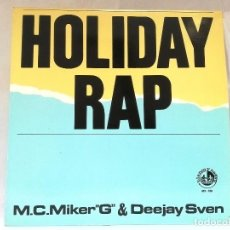 Discos de vinilo: SUPERSINGLE HOLIDAY RAP. Lote 121052959