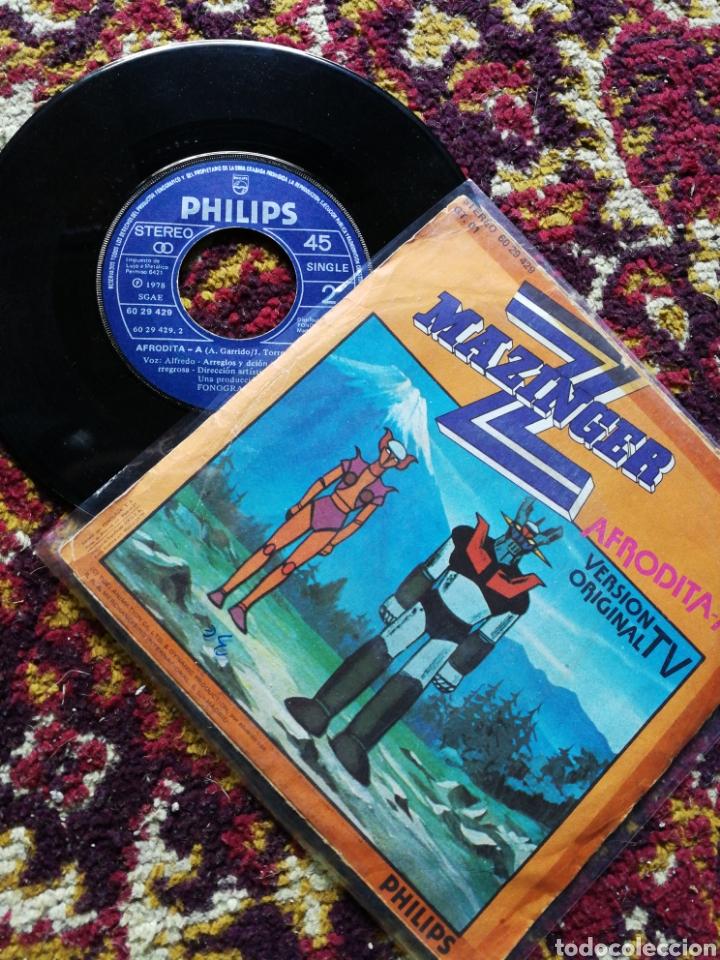 SINGLE MAZINGER Z, AFRODITA-A- VERSION ORIGINAL TV, 1978. (Música - Discos - Singles Vinilo - Música Infantil)