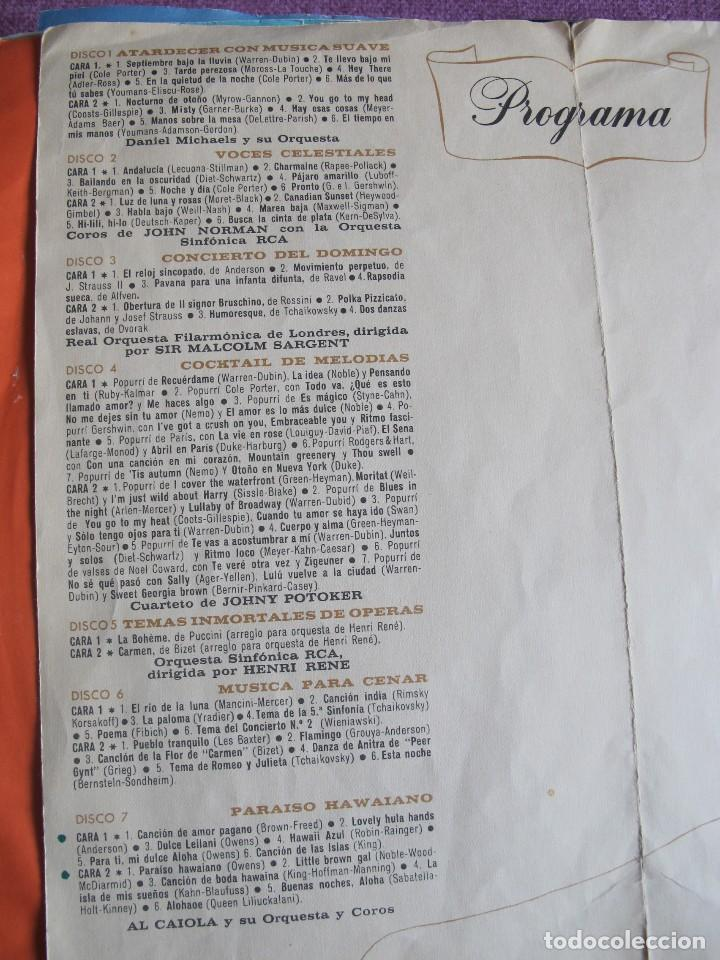 Discos de vinilo: LP - MELODIAS PARA VIVIR Y SOÑAR - VARIOS (CAJA CON 12 LPS Y PROGRAMA, SPAIN, READERS DIGEST 1964) - Foto 3 - 121053103
