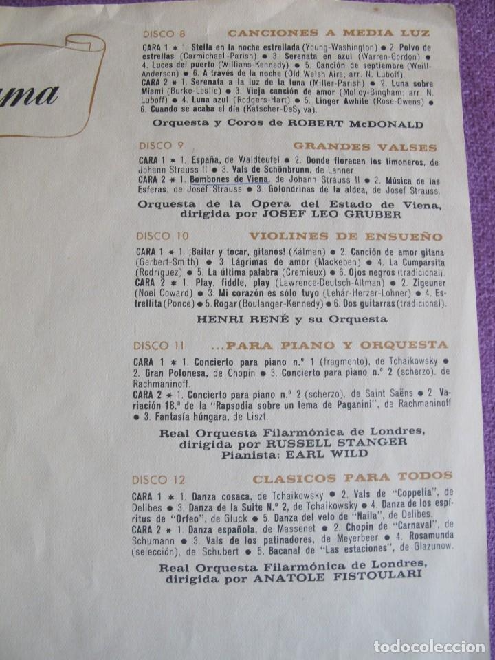 Discos de vinilo: LP - MELODIAS PARA VIVIR Y SOÑAR - VARIOS (CAJA CON 12 LPS Y PROGRAMA, SPAIN, READERS DIGEST 1964) - Foto 4 - 121053103