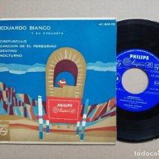 Discos de vinilo: EDUARDO BIANCO Y SU ORQUESTA (CRESPUSCULO - CANCION DE EL PEREGRINO - DESTINO - NOCTURNO) SPAIN-195. Lote 121058403