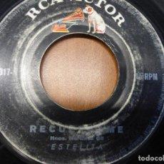 Discos de vinilo: ESTELITA - RECUERDAME / CRISTINA - SINGLE RCA HECHO EN VENEZUELA. Lote 121067979