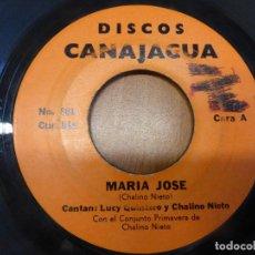 Discos de vinilo: LUCY QUINTERO Y CHALINO NIETO CON EL CONJUNTO PRIMAVERA DE CHALINO NIETO-MARIA JOSE/CUMBIA 1975. Lote 121069463