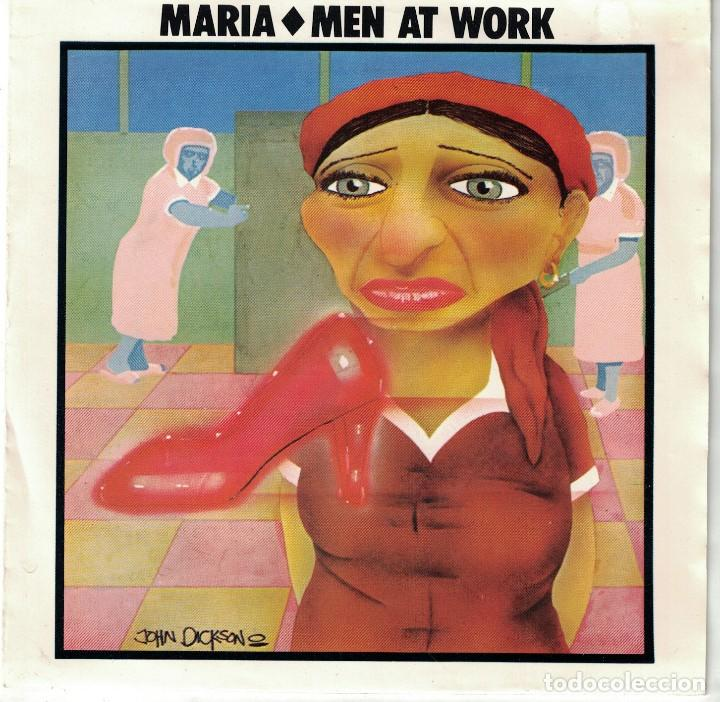 MEN AT WORK - MARIA / SNAKES AND LADDERS (SINGLE PORTUGUES, CBS 1985) (Música - Discos de Vinilo - Singles - Pop - Rock Extranjero de los 80)