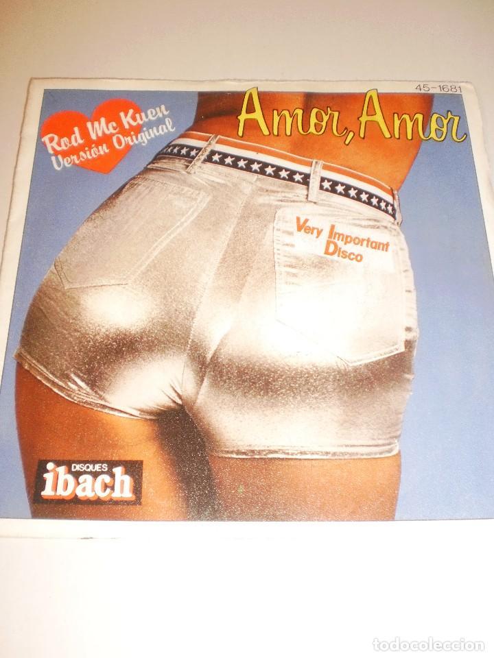 SINGLE. ROD MC KUEN. AMOR, AMOR. HISPAVOX 1977 SPAIN (PROBADO Y BIEN) (Música - Discos - Singles Vinilo - Pop - Rock - Extranjero de los 70)