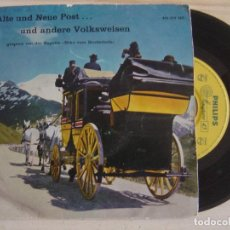 Discos de vinilo: KAPELLE ECHO VOM BRUDERHOLZ - ALTE UND NEUE POST ... UND ANDERE VOLKSWEISEN - EP - PHILIPS. Lote 121131687