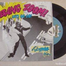 Discos de vinilo: THE REAL ROXANNE WITH HITMAN HOWIE TEE - (BANG ZOOM) LET´S GO + HOWIE´S TEED OFF - SINGLE PROMO 1986. Lote 121131983