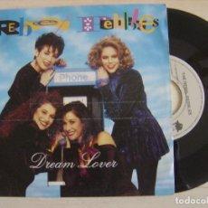 Discos de vinilo: THE REBEL PEBBLES - DREAM LOVER + PARTYTIME - SINGLE 1991 - I.R.S.. Lote 121139467