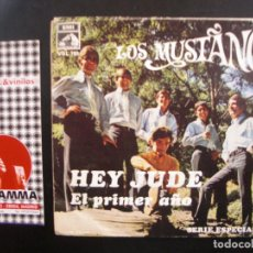 Discos de vinilo: LOS MUSTANG- HEY JUDE. SINGLE. Lote 121139903