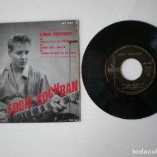 Discos de vinilo: EDDIE COCHRAN - C'MON EVERYBODY + 3 LIBERTY LEP 2198 - EDITADO EN FRANCIA. Lote 121141879