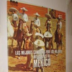 Discos de vinilo: LAS MEJORES CANCIONES POR LOS MEJORES INTERPRETES DE MEXICO - 2 DISCOS *. Lote 121166583