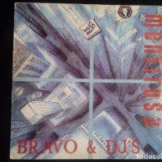 Discos de vinilo: BRAVO AND DJ´S: MENTIROSA, SINGLE PROMO YASFRI RECORDS YF-011-S. SPAIN, 1990. VG+/VG-. Lote 121171179