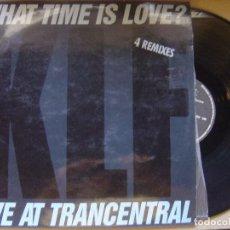 Discos de vinilo: KLF - WHAT TIME IS LOVE - LIVE AT TRANCENTRAL - MAXI 1990 - 4 REMIXES - BLANCO Y NEGRO. Lote 121175103