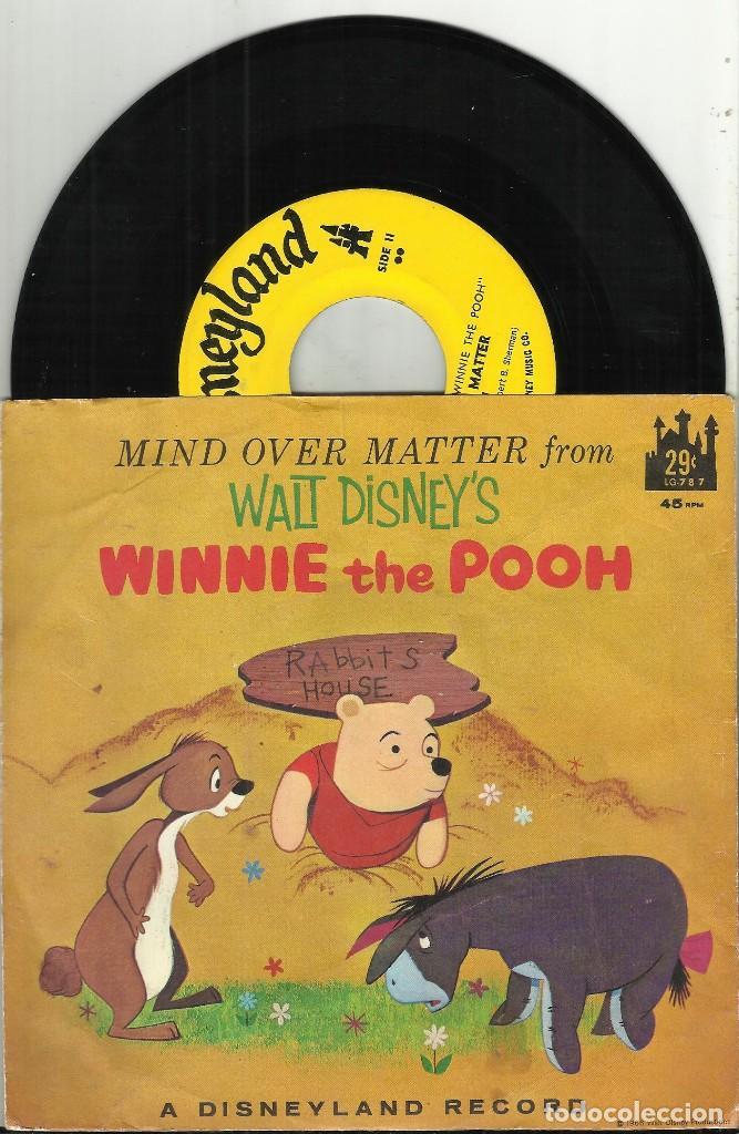 WALT DISNEY SINGLE WINNIE THE POOH MIND OVER MATTER 1966 (Música - Discos - Singles Vinilo - Música Infantil)