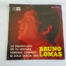 Discos de vinilo: BRUNO LOMAS - EP SINGLE VINILO 7''-- LO EQUIVOCADO + 3 - REGAL -- 1966. Lote 121180195
