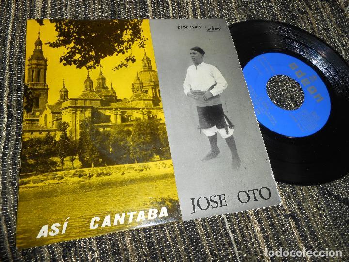 JOSE OTO JOTAS LA SAL SE TE VE CAYENDO/LA VERGUENZA AHORA SE VENDE/+6 EP 7'' 1961 ODEON SPAIN JOTA (Música - Discos de Vinilo - EPs - Country y Folk)