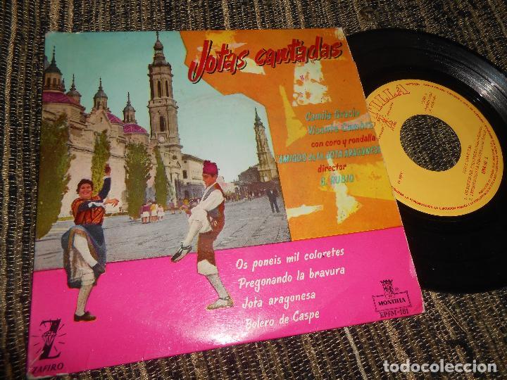 CAMILA GRACIA Y VICENTE CAMBRA JOTAS CANTADAS/+4 EP 7'' 1960 MONTILLA SPAIN JOTA PILARICA (Música - Discos de Vinilo - EPs - Country y Folk)