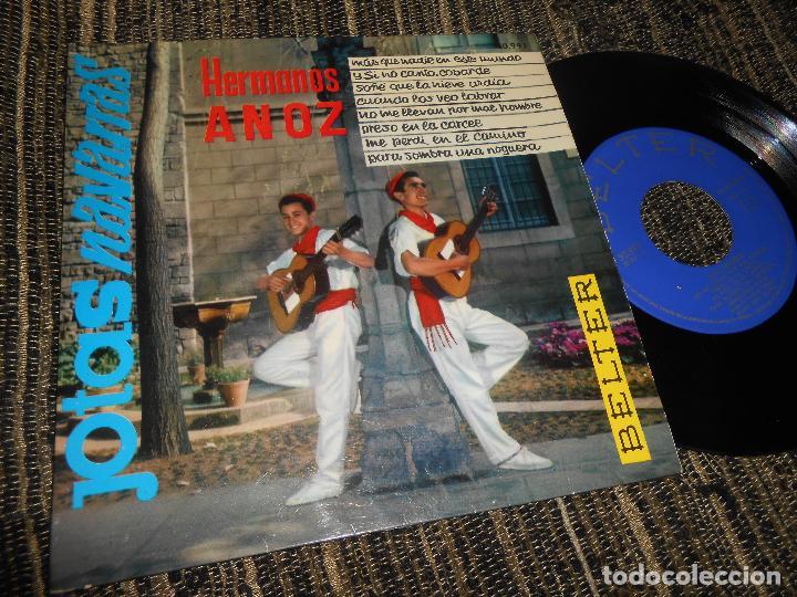 HERMANOS ANOZ JOTAS MAS QUE NADIE EN ESTE MUNDO/+7 EP 7'' 1961 BELTER SPAIN JOTA (Música - Discos de Vinilo - EPs - Country y Folk)