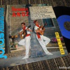 Discos de vinilo: HERMANOS ANOZ JOTAS MAS QUE NADIE EN ESTE MUNDO/+7 EP 7'' 1961 BELTER SPAIN JOTA. Lote 121185727