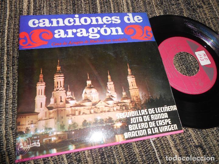 CASA ARAGON DE MADRID CON RODALLA JOTAS SEGUIDILLAS DE LECIÑENA/+3 EP 7'' 1968 SINTONIA SPAIN JOTA (Música - Discos de Vinilo - EPs - Country y Folk)