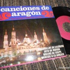Discos de vinilo: CASA ARAGON DE MADRID CON RODALLA JOTAS SEGUIDILLAS DE LECIÑENA/+3 EP 7'' 1968 SINTONIA SPAIN JOTA. Lote 121185835