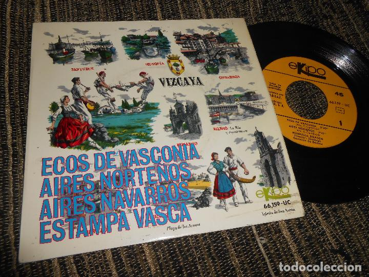 RONDALLA BIDASOA ECOS DE VASCONIA/AIRES NORTEÑOS/AIRES NAVARROS/+1 EP 7'' 1966 EKIPO SPAIN EUSKADI (Música - Discos de Vinilo - EPs - Country y Folk)