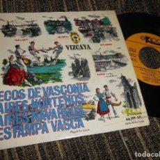 Discos de vinilo: RONDALLA BIDASOA ECOS DE VASCONIA/AIRES NORTEÑOS/AIRES NAVARROS/+1 EP 7'' 1966 EKIPO SPAIN EUSKADI. Lote 121186839