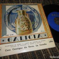 Discos de vinilo: CORO CANTIGAS DE TERRA,LA CORUÑA PANDEIRADA DE NEBRA/+3 EP 7'' 1958 ODEN SPAIN GALIZA. Lote 121186951