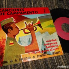 Discos de vinilo: TUNA FACULTAD DE DERECHO MADRID SOLEDAD/MARGARITA/DESIDERIO/+1 EP 7'' 1963 SPAIN CAMPAMENTO MILITAR. Lote 121189003