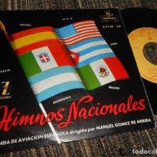 Discos de vinilo: BANDA DE LA AVIACION ESPAÑOLA HIMNOS USA+CUBA+MEXICO+ESPAÑA EP 7'' 1959 MONTILLA SPAIN. Lote 121189459