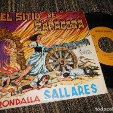 Discos de vinilo: RONDALLA SALLARES EL SITIO DE ZARAGOZA PARTE 1 Y 2 7'' 1969 VICTORIA SPAIN. Lote 121189827