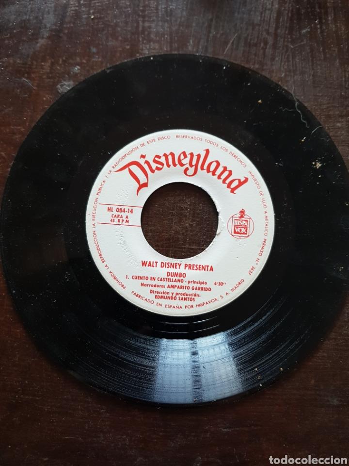 DUMBO. DISNEYLAND. CUENTO EN CASTELLANO. HISPAVOX. 1970 (Música - Discos - Singles Vinilo - Música Infantil)