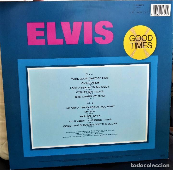 Discos de vinilo: {ELVIS PRESLEY} GOOD TIMES - LP - 1974 - GERMANY / EX/EX - Foto 2 - 121217299