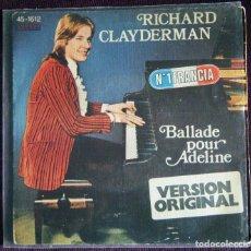 Discos de vinilo: RICHARD CLAYDERMAN / BALLADE POUR ADELINE. Lote 121238635
