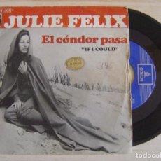 Discos de vinilo: JULIE FELIX - IF I COULD + ALONE - SINGLE ESPAÑOL 1970 - ODEON. Lote 121249883