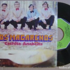 Discos de vinilo: LOS MACARENOS - CACHITA + ANABELLA - SINGLE 1974 - MOVIEPLAY. Lote 143642114