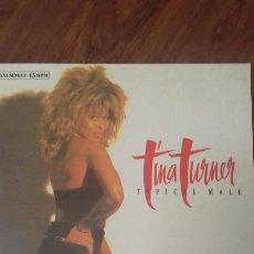 Discos de vinilo: TINA TURNER. TYPICAL MALE. MAXI SINGLE. 1.986. Lote 121259271