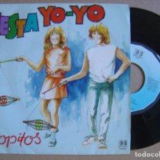 Discos de vinilo: POPITOS - CESTA YO YO + QUERIDO MUNDO - SINGLE 1984 - BELTER. Lote 121260171