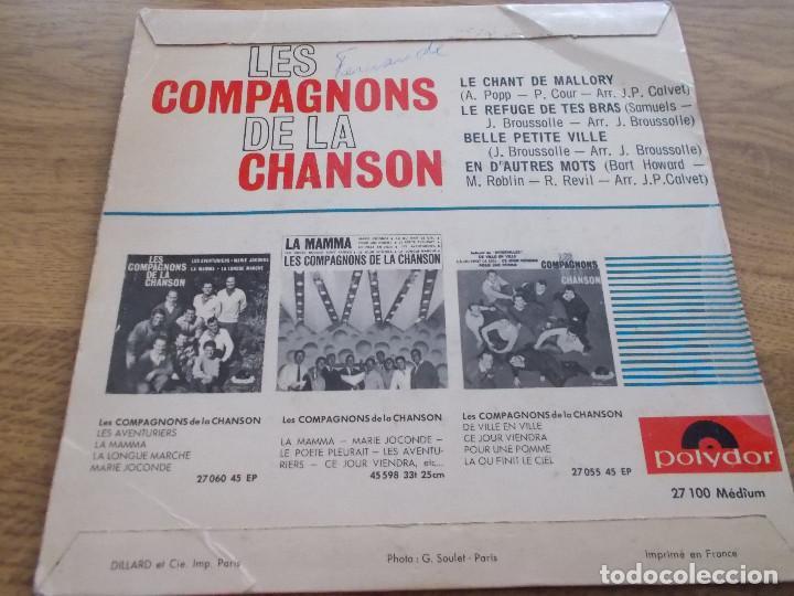 Discos de vinilo: LES COMPAGNONS DE LA CHANSON. EUROVISION 1964 - Foto 2 - 121270207