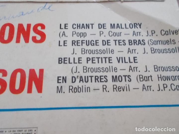Discos de vinilo: LES COMPAGNONS DE LA CHANSON. EUROVISION 1964 - Foto 3 - 121270207