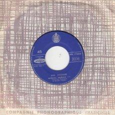 Discos de vinilo: LOS ANGELES - MAÑANA MAÑANA SINGLE DE VINILO PARA SINFONOLA - JUKE BOX EDITADO EN FRANCIA. Lote 121270391
