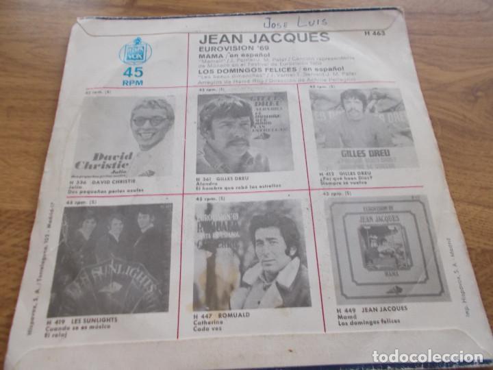 Discos de vinilo: JEAN JACQUES EUROVISION 69, CANTA EN ESPAÑOL MAMA - Foto 2 - 121270443