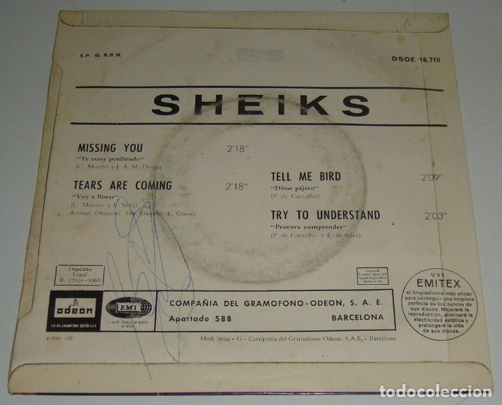 Discos de vinilo: EP - SHEIKS - DSOE 16.710 - 1966 -MISSING YOU,TEARS ARE COMING,TELL ME BIRD,TRY TO UNDERSTAND-SHEIKS - Foto 2 - 121271639