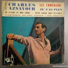 Disques de vinyle: CHARLES AZNAVOUR - LES COMEDIENS .... Lote 121276555
