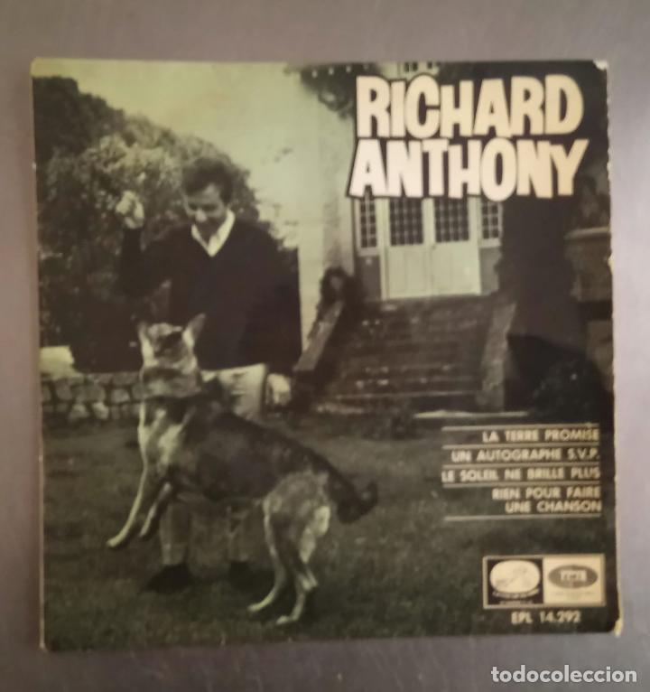 RICHARD ANTHONY - LA TERRE PROMISE + 3, (Música - Discos de Vinilo - EPs - Canción Francesa e Italiana)