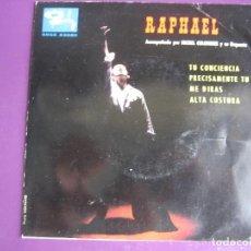 Discos de vinilo: RAPHAEL EP BARCLAY COLUMBIA 1963 TU CONCIENCIA/ ME DIRAS +2 - MICHEL COLOMBIER. Lote 121279659