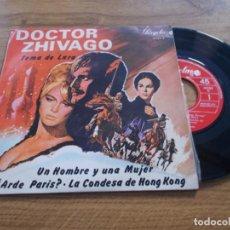 Discos de vinilo: DOCTOR ZHIVAGO. TEMA DE LARA. UN HOMBRE Y UNA MUJER.. Lote 121279927