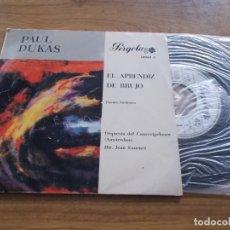 Discos de vinilo: PAUL DUKAS. EL APRENDIZ DE BRUJO. POEMA SINFONICO. Lote 121282131